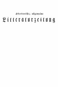 "Titelblatt ""Oberdeutsche Litteraturzeitung"""