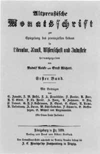 Titelblatt Altpreußische Monatsschrift