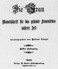 """Titelblatt """"Die Frau"""""""