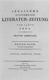 Titelblatt Allgemeine Literatur-Zeitung