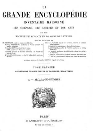 Titelblatt: La Grande Encyclopédie