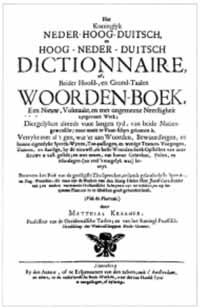 Titelblatt: Het koninglyk Neder-Hoog-Duitsch Dictionnaire