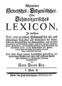 Titelblatt: Hans Jacob Leu