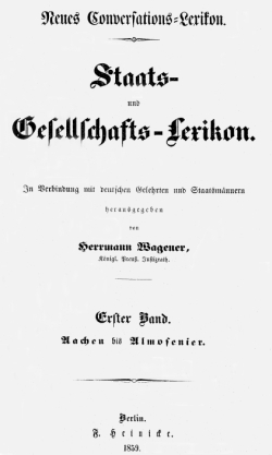 Titelblatt: Staats- und Gesellschafts-Lexikon