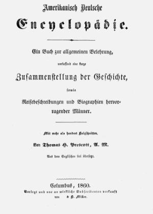 Titelblatt Amerikanisch Deutsche Encyclopädie