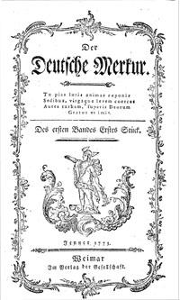 """Titelblatt """"Der Deutsche Merkur"""""""