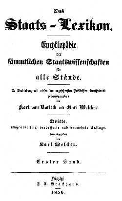 Titelblatt: Staats-Lexikon