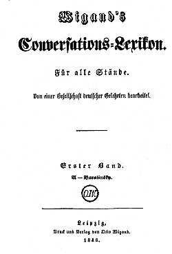 Titelblatt: Wigands Coversations-Lexicon