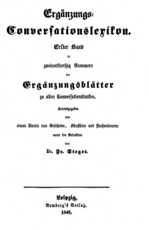 Titelblatt: Ergänzungs-Conversationslexikon