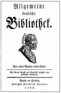 Titelblatt Allgemeine deutsche Bibliothek