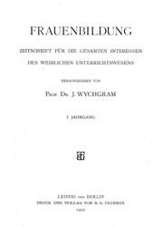 "Titelblatt ""Frauenbildung"""