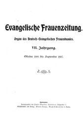 """Titelblatt """"Evangelische Frauenzeitung"""""""