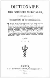 Titelblatt: Dictionnaire des sciences médicales