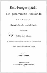 Titelblatt: Eulenburg, Albert (Hg.): Real-Encyclopädie der gesammten Heilkunde