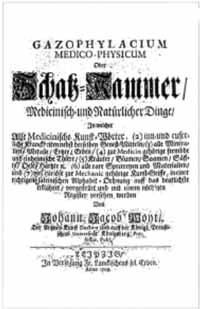 Titelblatt: Johann Jacob Woyt: Gazophylacium medico-physicum