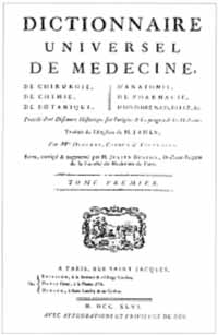 Titelblatt: Robert James: Dictionnaire universel de médecine