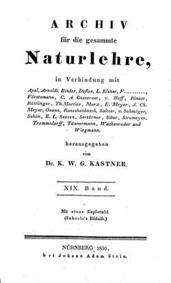 Titelblatt: Archiv für die gesammte Naturlehre