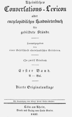 Titelblatt: Rheinisches Conversations-Lexikon