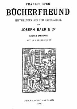 Titelblatt Frankfurter Bücherfreund