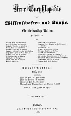 Titelblatt: Neue Encyclopädie der Wissenschaften und Künste.