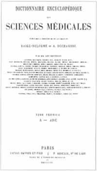 Titelblatt: A. Dechambre / J. Raige-Delorme: Dictionnaire encyclopédique des sciences médicales
