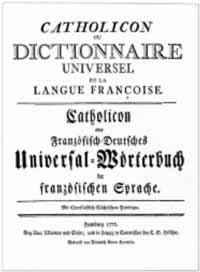 Titelblatt: Johann Josef Schmidlin: Catholicon, ou Dictionnaire universel de la langue françoise