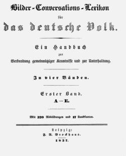 Titelblatt: Bilder-Conversations-Lexikon für das deutsche Volk
