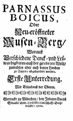 "Titelblatt ""Parnassus boicus"""