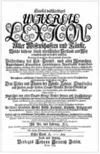 Cover: Johann Heinrich Zedler: Grosses vollständiges Universal-Lexicon aller Wissenschaften und Künste