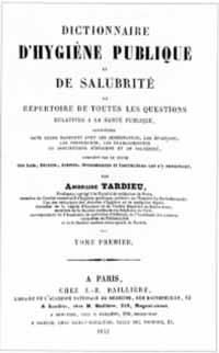 Titelblatt: Ambroise Tardieu: Dictionnaire d'hygiène publique et de salubrité