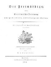 """Titelblatt """"Der Freimüthige"""""""