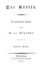 Titelblatt «Die Grille»