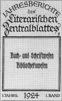 Titelblatt Literarisches Centralblatt