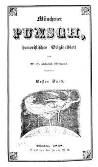 """Titelblatt """"Münchener Punsch"""""""