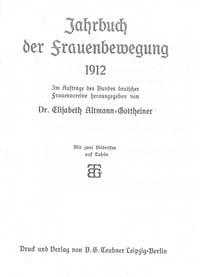 Titelblatt 'Jahrbuch der Frauenbewegung'