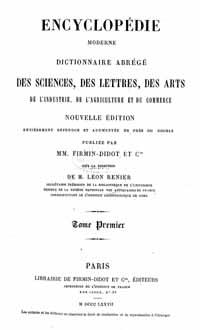 Titelblatt: Encyclopédie moderne