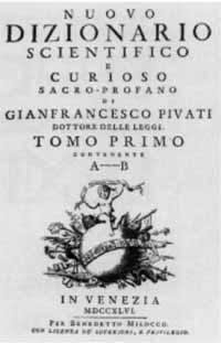 Cover: Gianfrancesco Pivati: Nuovo dizionario scientifico e curioso sacro-profano