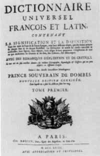 Titelblatt: Dictionnaire universel françois et latin