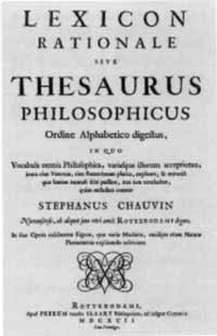 Titelblatt: Stephanus Chauvin: Lexicon rationale sive Thesaurus philosophicus