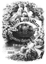 """Titelblatt """"Land und Meer"""""""