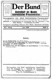 Titelblatt: Der Bund