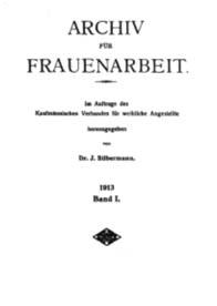 "Titelblatt ""Archiv f Frauenarbeit"""
