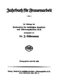"Titelblatt ""Jahrbuch f Frauenarbeit"""