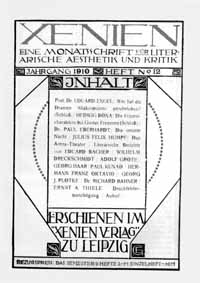 Titelblatt »Xenien«
