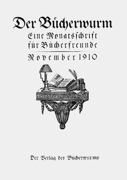 Titelblatt »Der Bücherwurm«