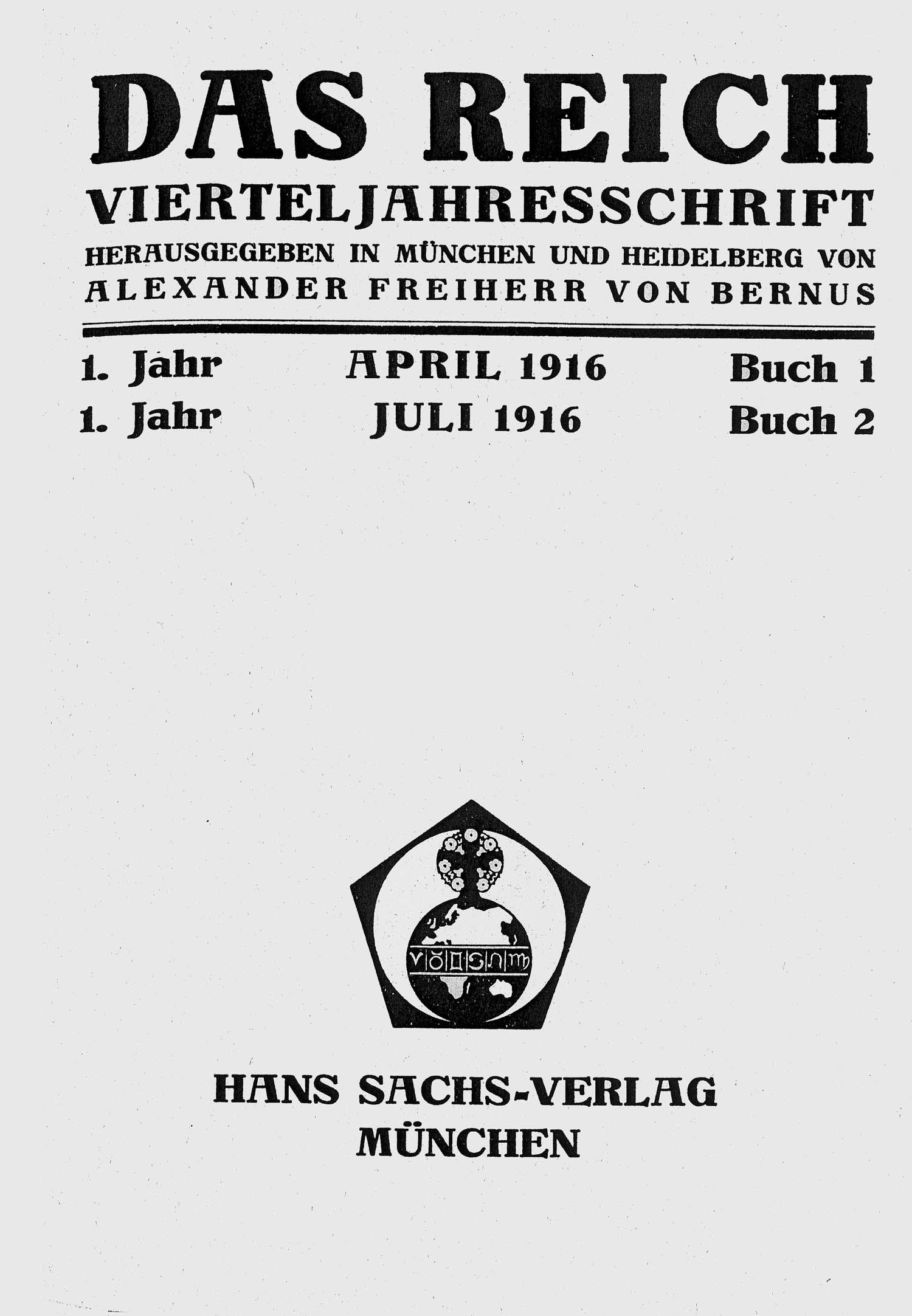 Titelblatt »Das Reich«