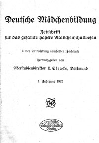"Titelblatt ""Deutsche Mädchenbildung"""