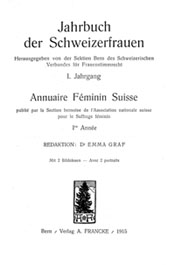 """Titelblatt """"Jahrbuch der Schweizerfrauen"""""""