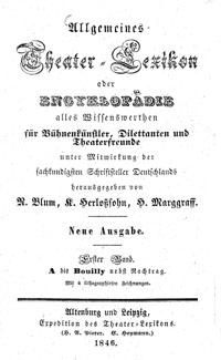 Titelblatt: Allgemeines Theater-Lexikon
