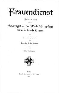 """Titelblatt """"Frauendienst"""""""